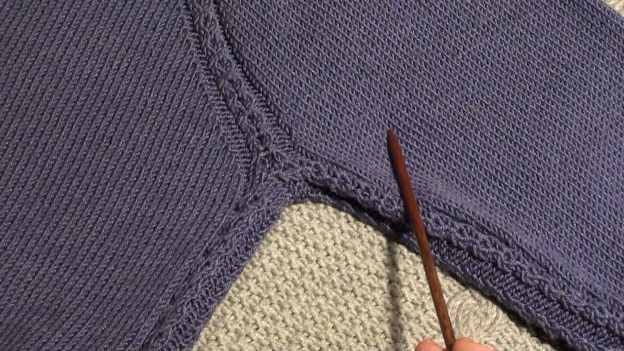 Как сделать реглан при вязании